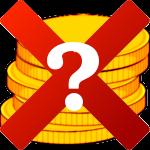 Demonetize-Logo mit Fragezeichen