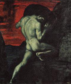Sisyphus beim Arbeiten