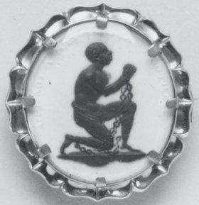 Medaillon der britischen Abolitionismusbewegung (gemeinfrei, Quelle: http://commons.wikimedia.org/wiki/File:Wedgwood_-_Anti-Slavery_Medallion_-_Walters_482597.jpg)